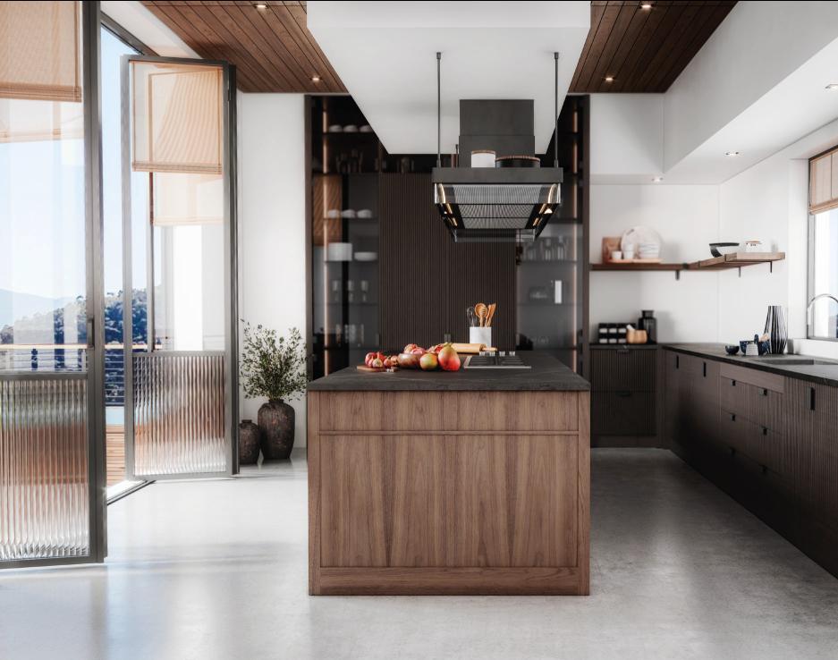Cozinha moderna em madeira