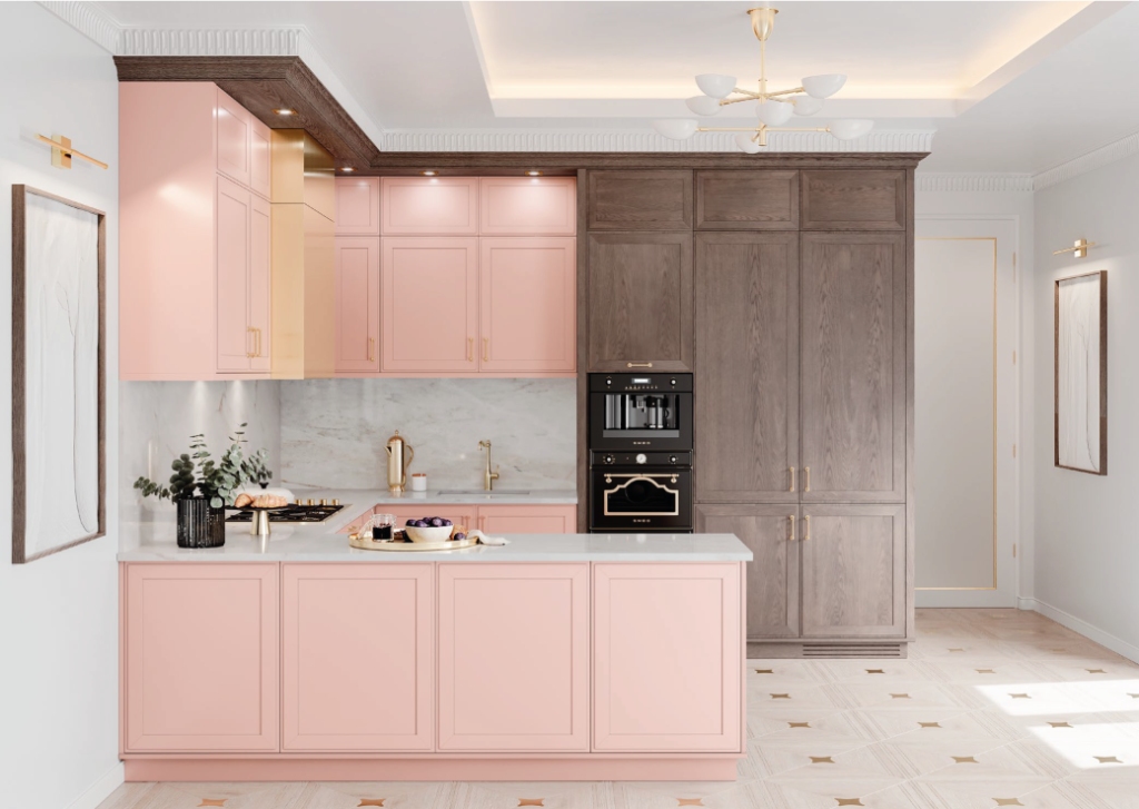 cozinha moderna em U