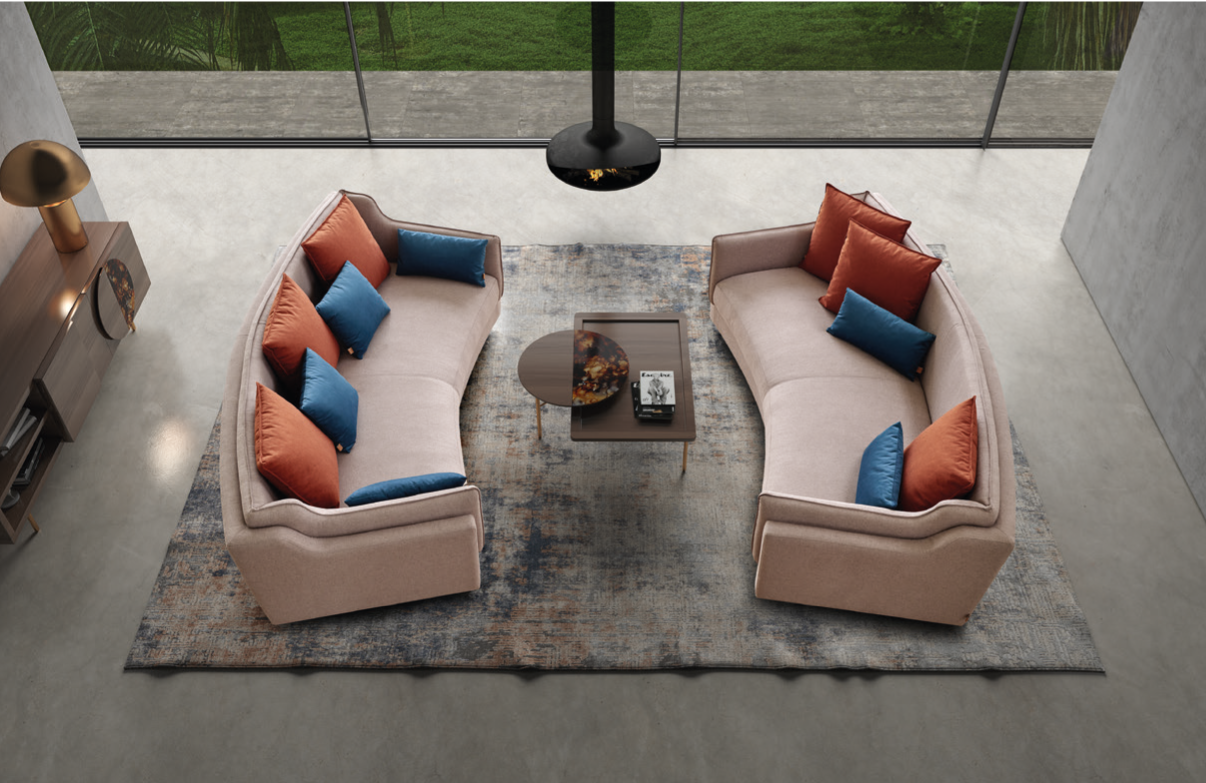 Conjunto de sofás clássicos